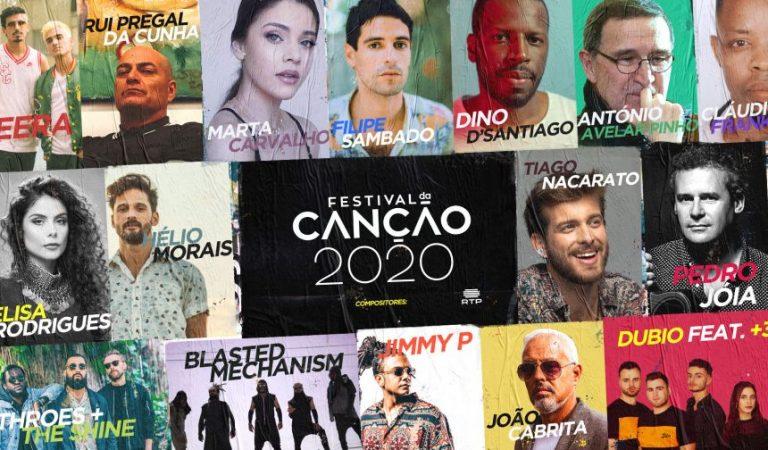 Tiago Nacarato, Jimmy P e Blasted Mechanism vão compor para o Festival da Canção 2020